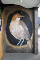Street Art Bird -Hornero- by Johnny-Aza