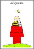 Keep looking up! That's the secret of life -Snoopy by Johnny-Aza