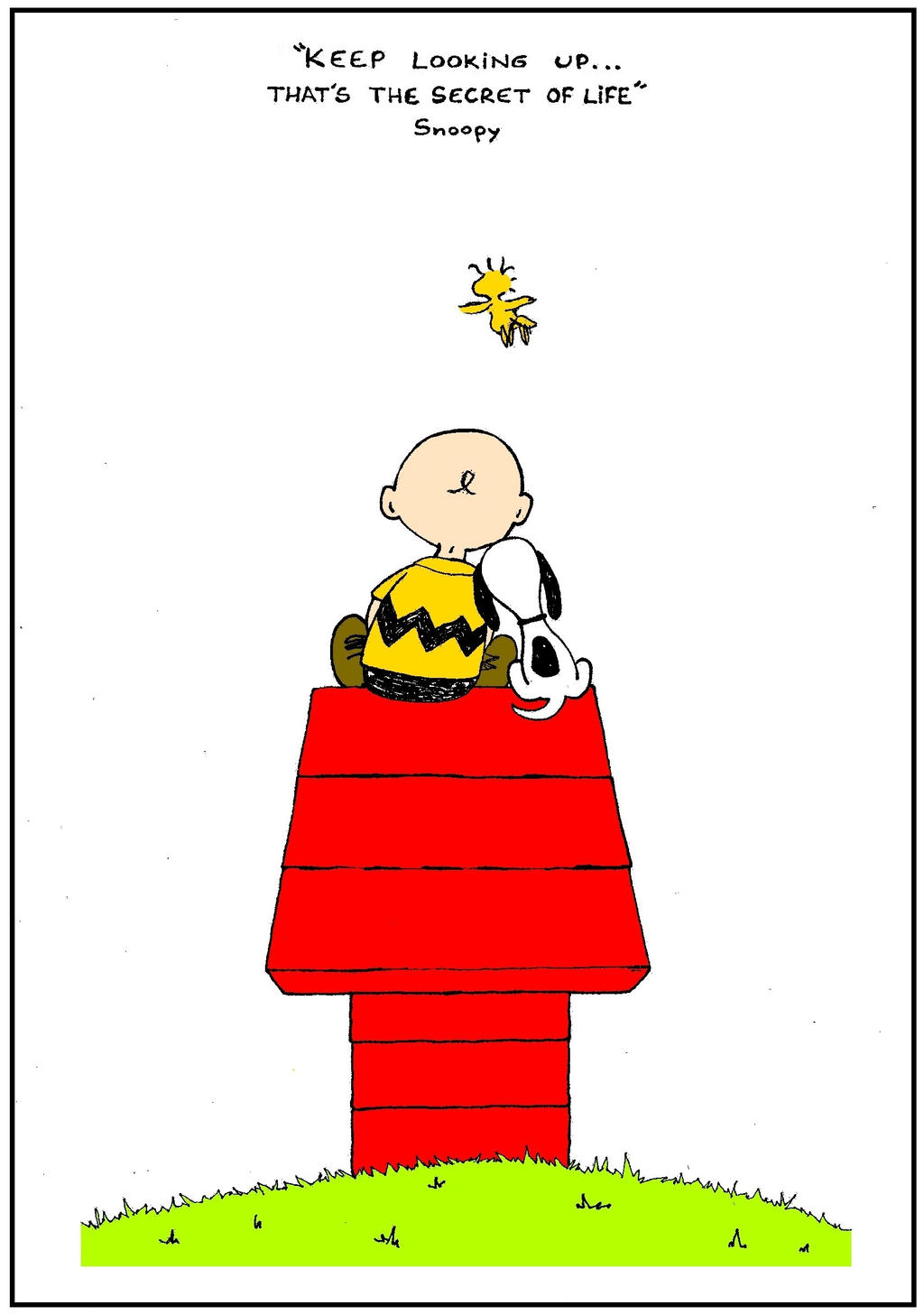 Keep looking up! That's the secret of life -Snoopy by ...