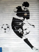 MESSI Street Art -Details- by Johnny-Aza