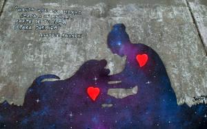 Street Art - Adopts a stray dog by Johnny-Aza