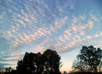 Nice sunset with rare clouds
