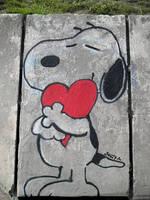 Snoopy Street Art / ADOPTA - ADOPT by Johnny-Aza