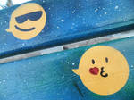 Space seat + Emoticons / Details by Johnny-Aza