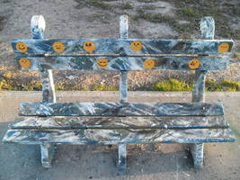 Street Art - Special Seat with emoticons by Johnny-Aza