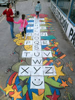 Street Art / Special Hopscotch-Alphabet by Johnny-Aza
