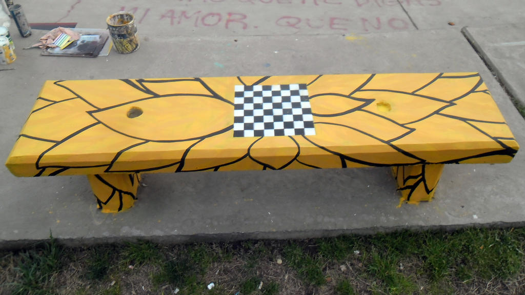 Special Seat with board of chess by Johnny-Aza