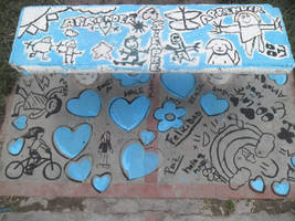 seat painted with kids   ImI by Johnny-Aza