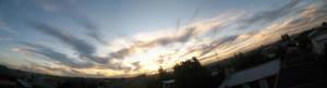Warm sunset -panoramic view-