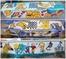 Special Seat + Chessboard \m/ painted with kids by Johnny-Aza