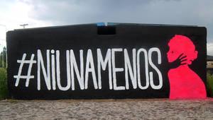 #NiUnaMenos - Street Art by Johnny-Aza
