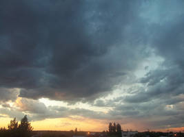 Nice Sunset with clouds - storm in process  2 / 2 by Johnny-Aza
