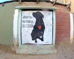 Street Art /_Adopt a stray dog by Johnny-Aza