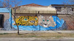 Street Art /_Jaguar and Puma by Johnny-Aza
