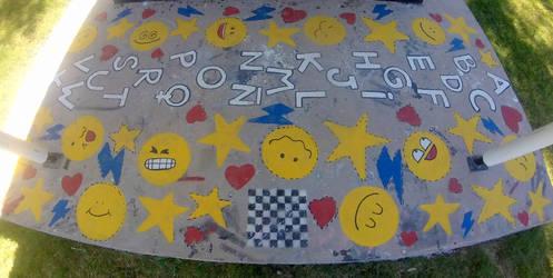 Street Art  - hopscotch by Johnny-Aza