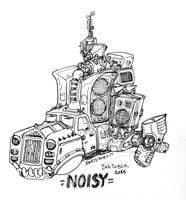 Inktober - Noisy by bmkorkut