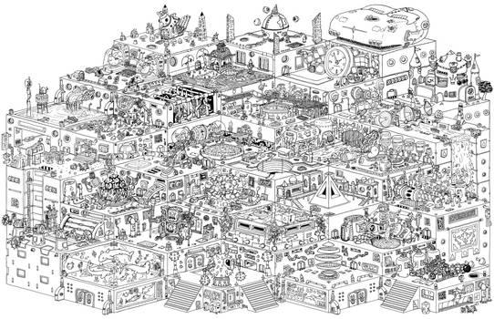 Apartments of Babel (Inktober 2018)