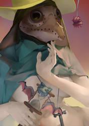 female plague doctor corona