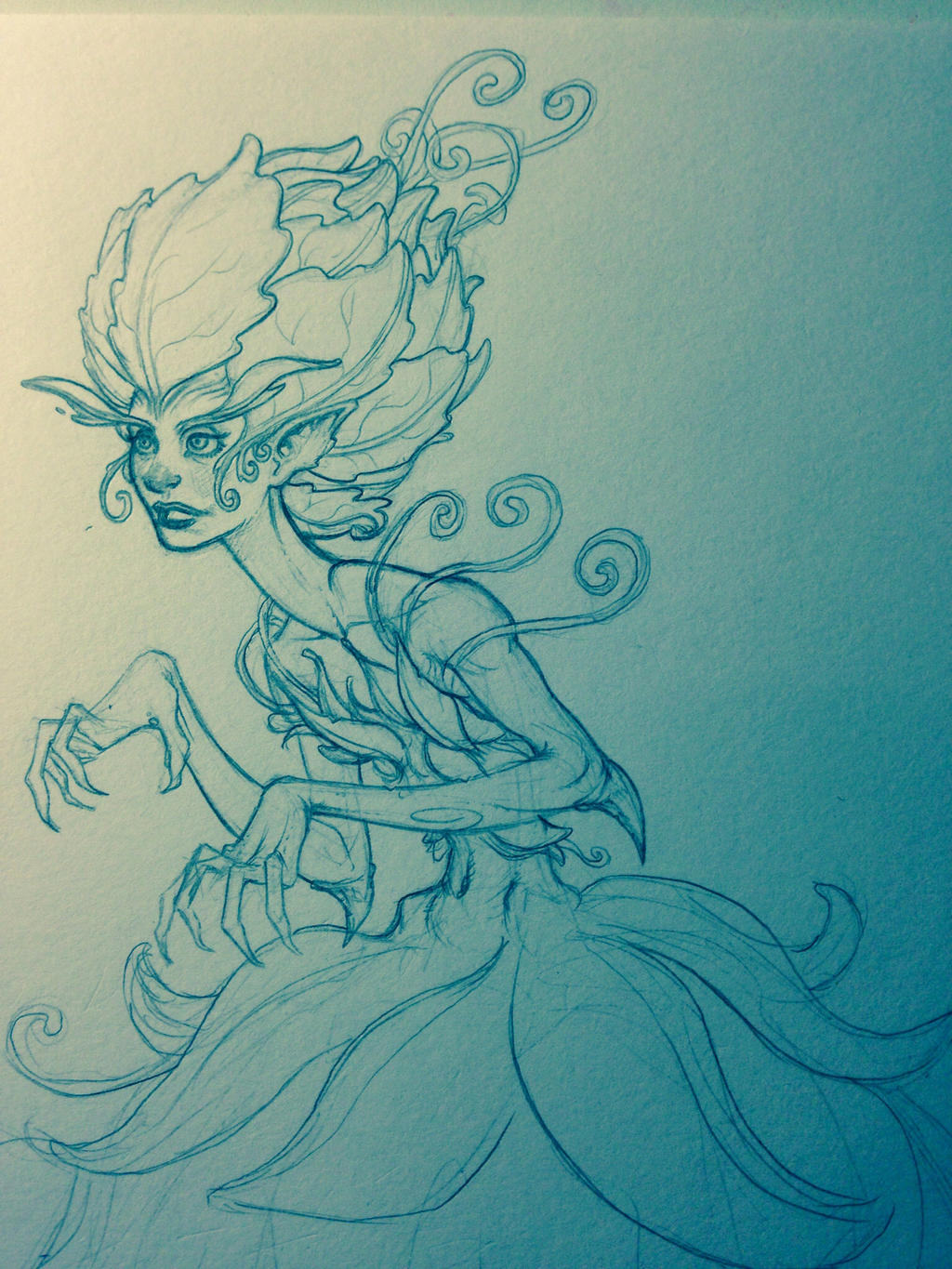Flower girl doodle sketch by Maxx-Marshall