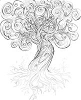 unfinished tree by piperly-one