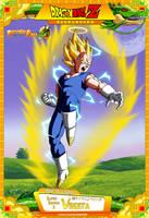 Dragon Ball Z - Super Saiyan 2 Vegeta by DBCProject