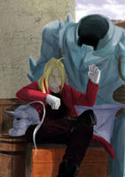 Elric Brothers by zarkdmacabre