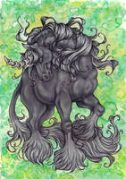 Black Unicorn by Agaave