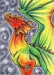ACEO Trade: Skies on Fire