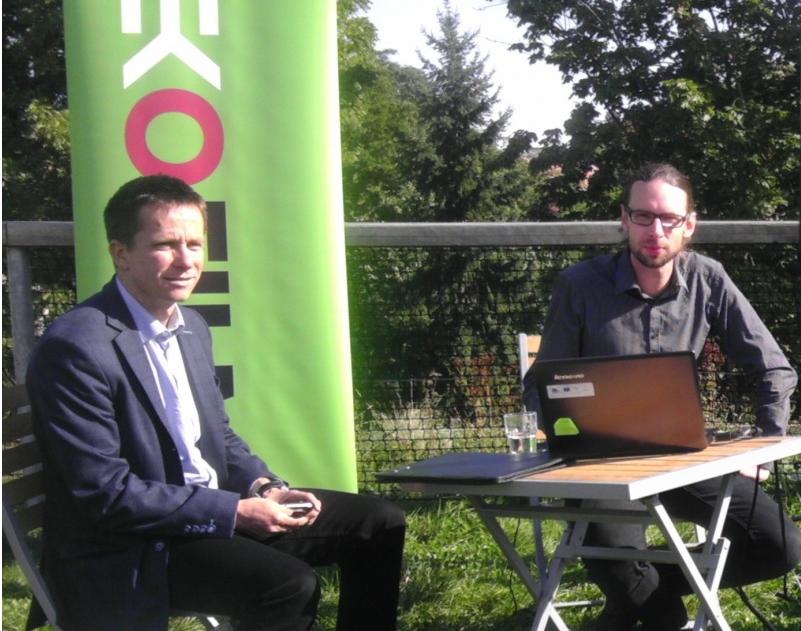Zástupci nadace Partnerství -(zleva) Michal Veselý a Martin Gillár