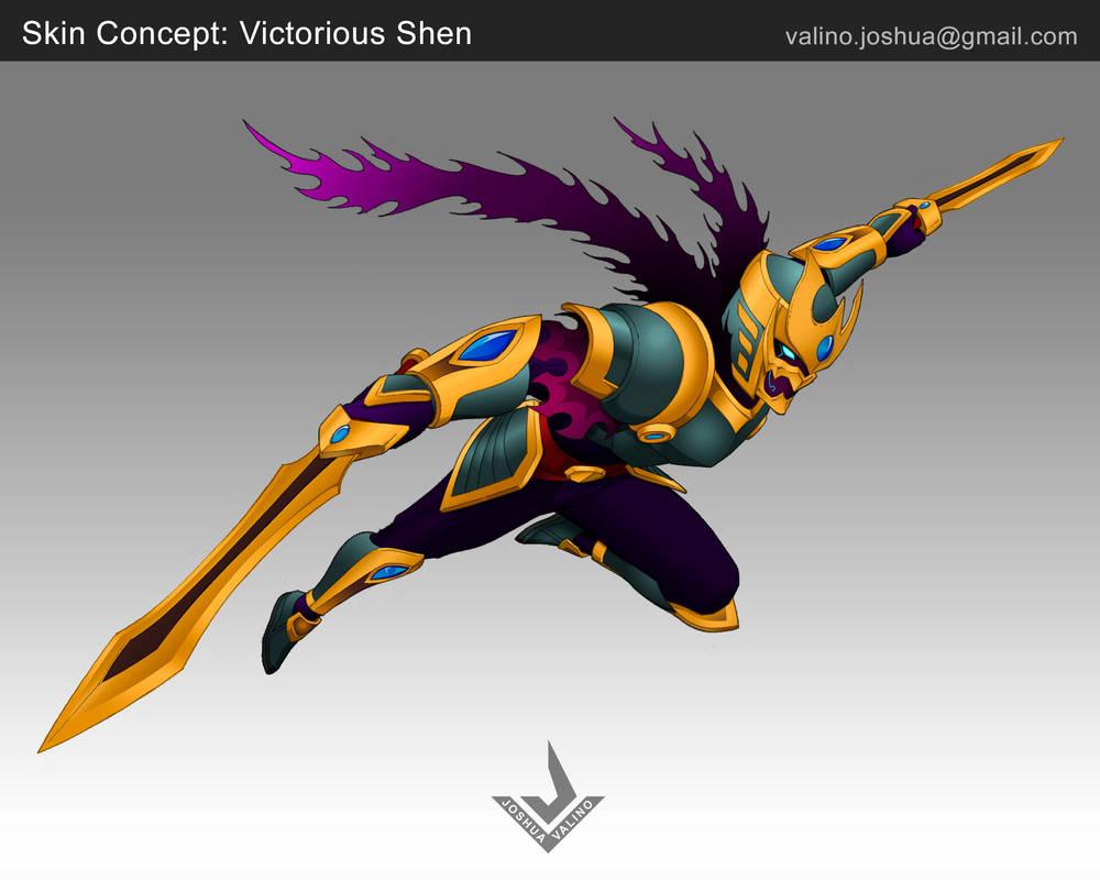League of Legends - Victorious Shen by hinatainn on DeviantArt