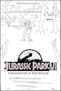 Jurassic Park VII Line art 1