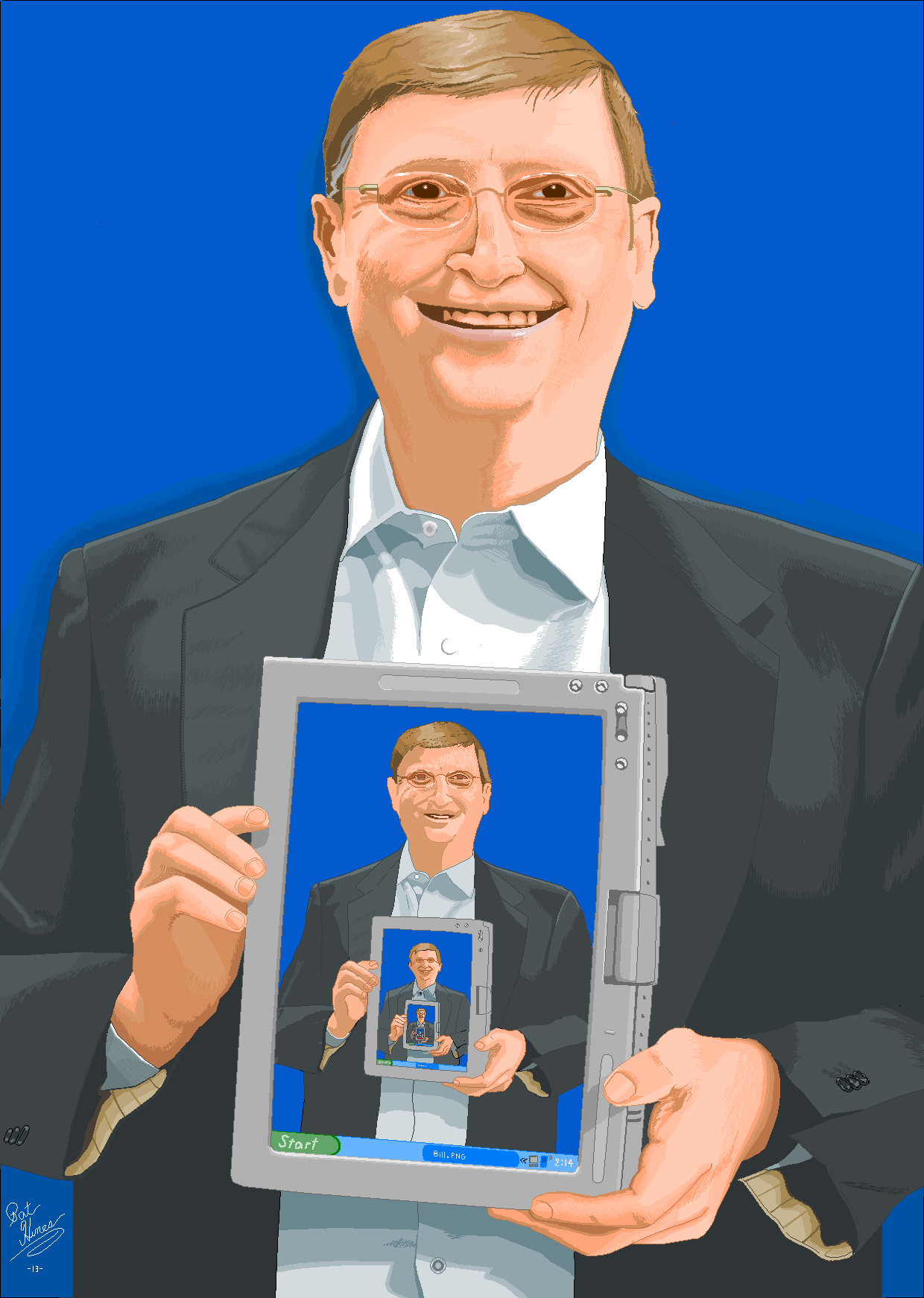 Bill Gates in Microsoft Paint by CaptainRedblood