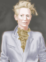 Tilda Swinton in MS Paint