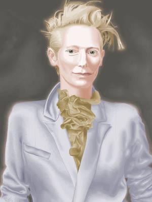 Tilda Swinton in MS Paint by CaptainRedblood