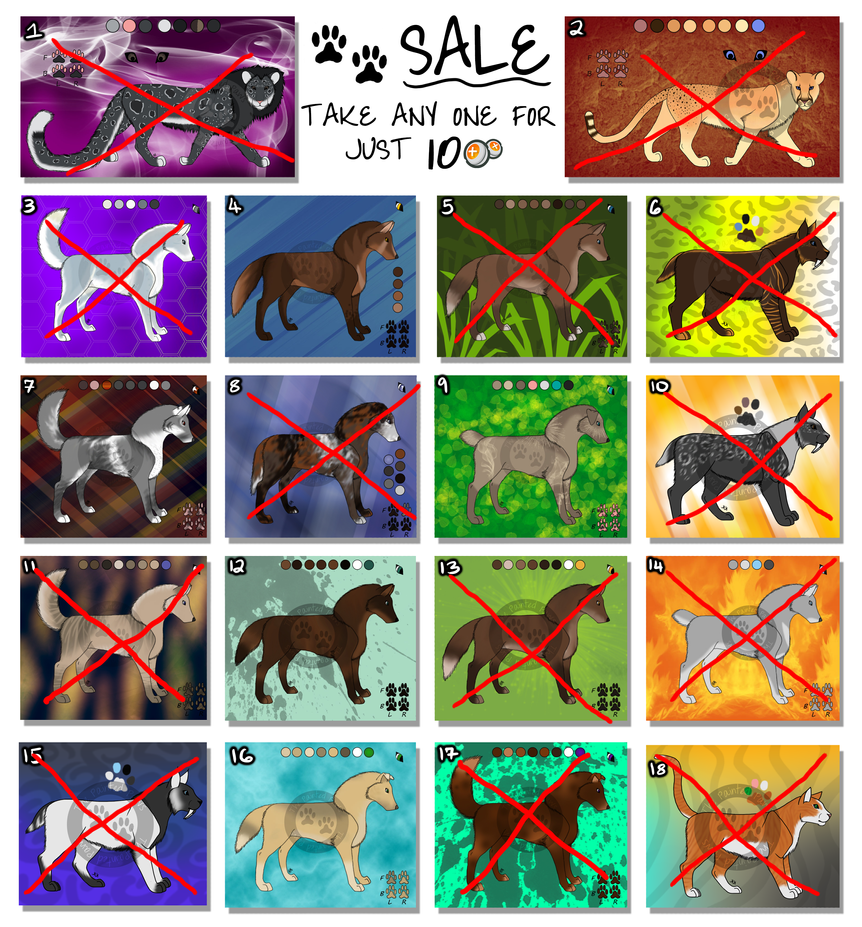 Sale!! Point Adopts OPEN 2 LEFT! by ThePaintedPaws