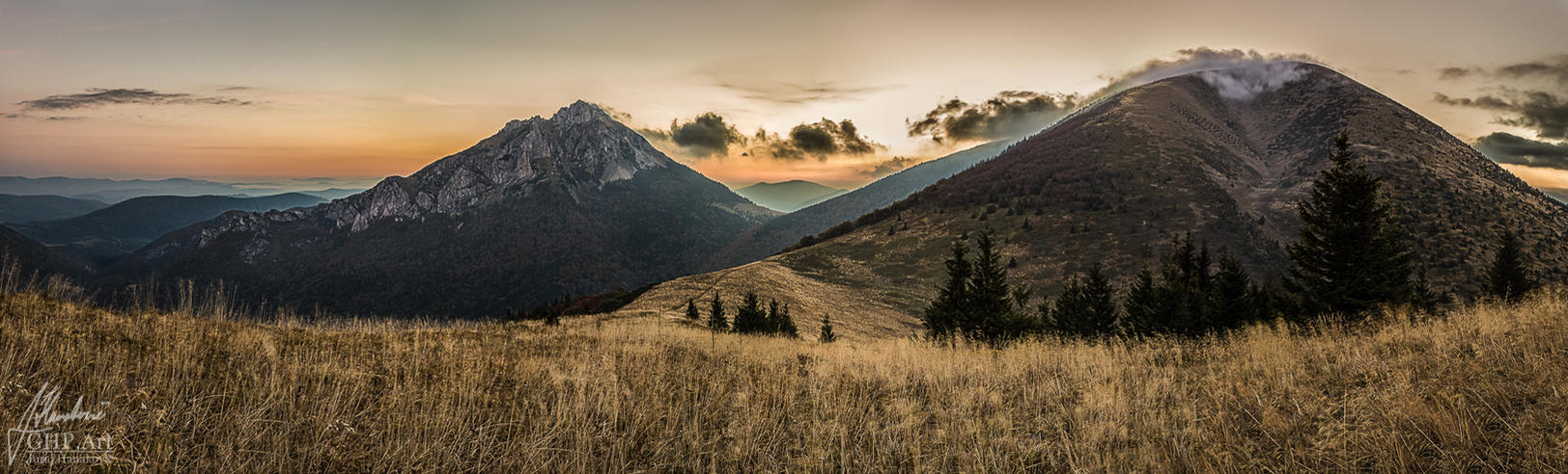 Sunrise behind Velky Rozsutec by GHPArt