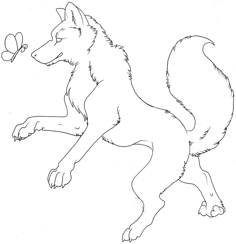 Wolf Lineart : Wolf lineart