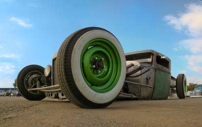rat rod blue sky by SurfaceNick