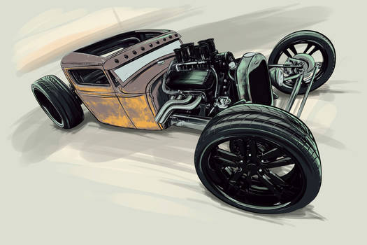 rat rod airbrush