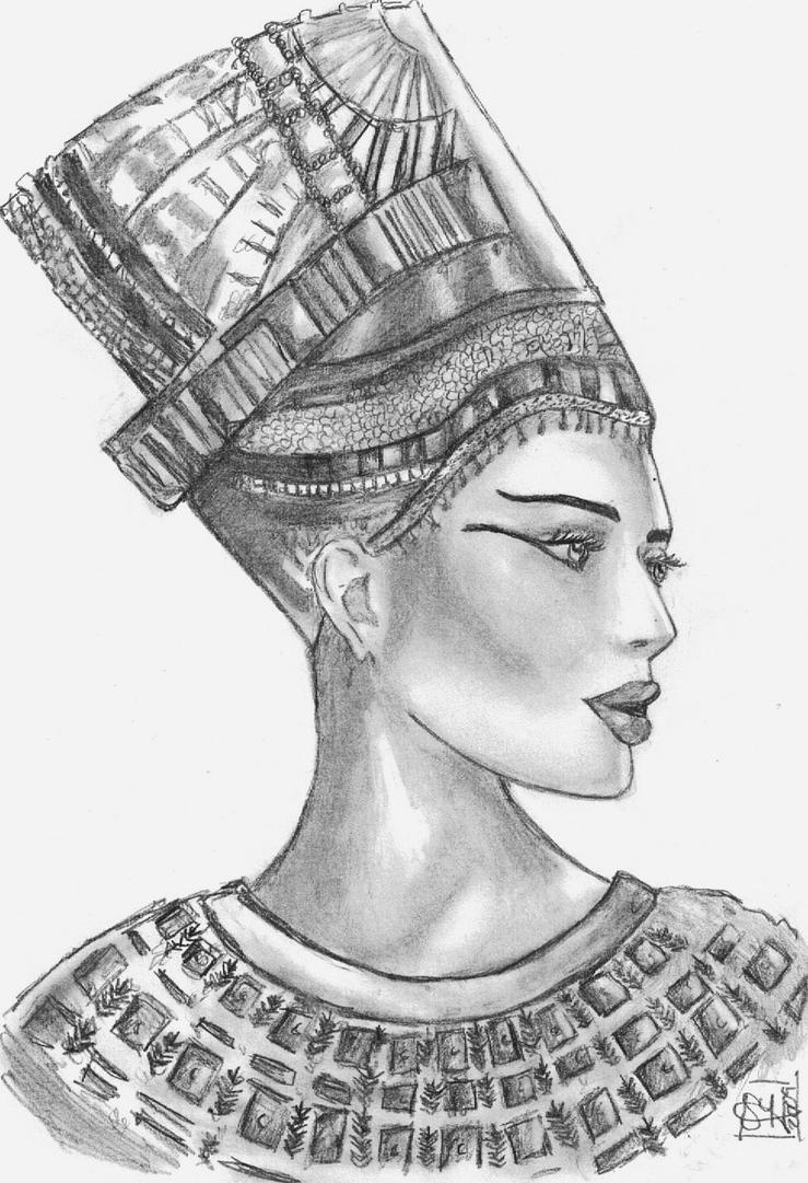 egyptian queen drawing - photo #8