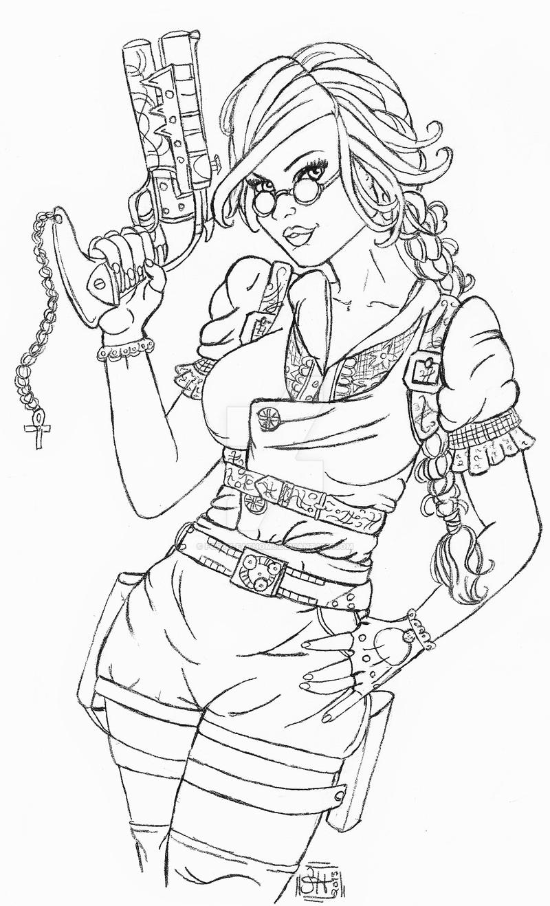 how to draw steampunk style