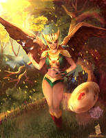 Hawkgirl by Forty-Fathoms