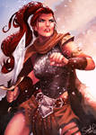 Red Sonja by Forty-Fathoms