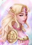 Princess Zelda by Forty-Fathoms