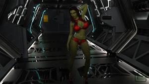 New Alien Babe Eisha 01 by Gator3D