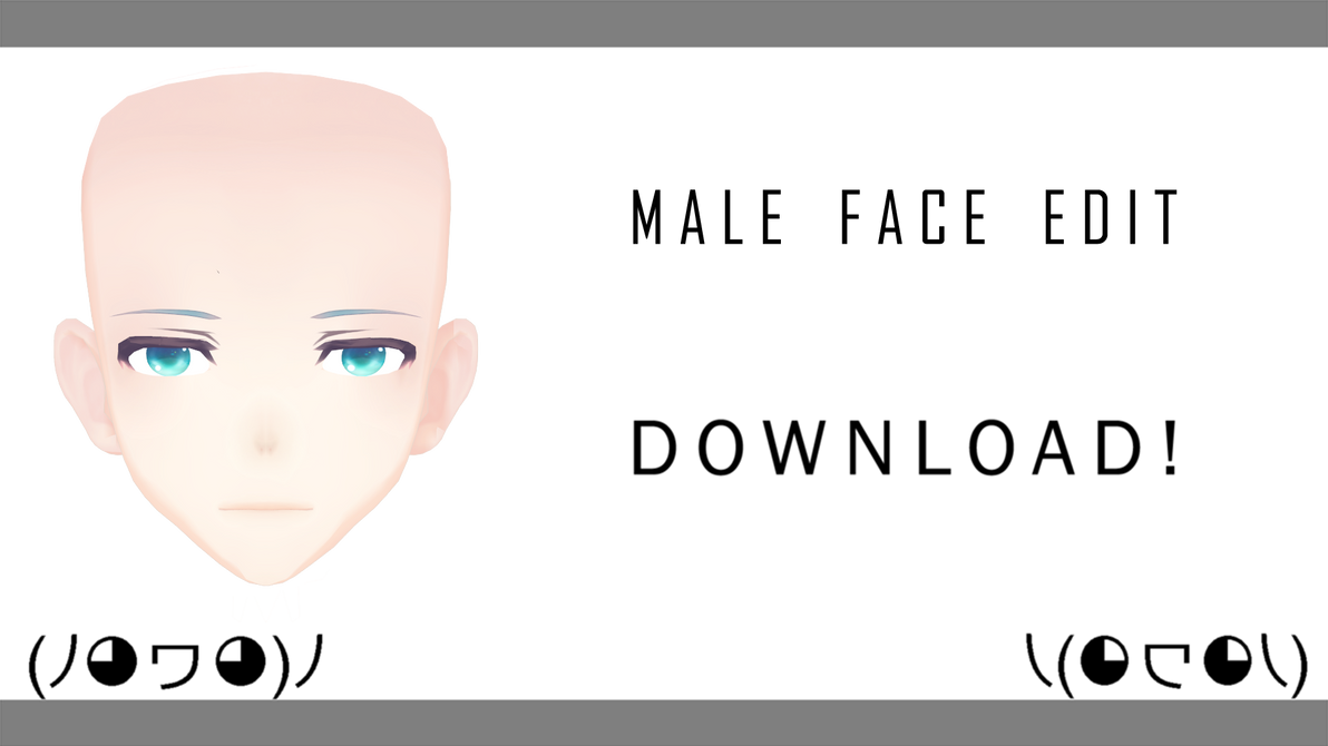 [MMD] TDA Male Face Edit! +DL (Tranks for the 30+) by sweet-desiree
