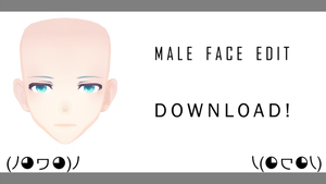 [MMD] TDA Male Face Edit! +DL (Tranks for the 30+)