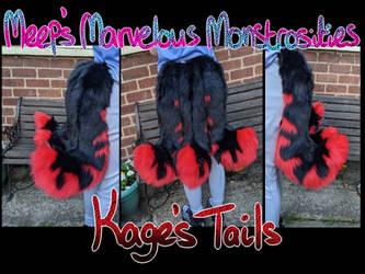 Fire wolf fursuit tails [Kage]