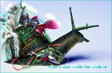 A Slow Snail World... by stevenzdf