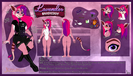 Ref - Lavender (Second fursona!) by JezzKitty